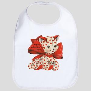 Cat- Happy Valentine's Day Bib