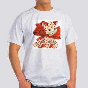 Cat- Happy Valentine's Day Ash Grey T-Shirt