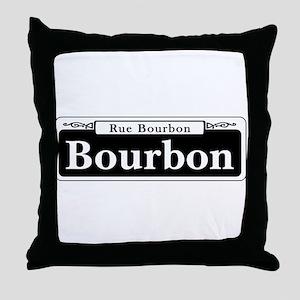 Bourbon St., New Orleans Throw Pillow