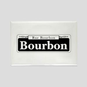 Bourbon St., New Orleans Rectangle Magnet