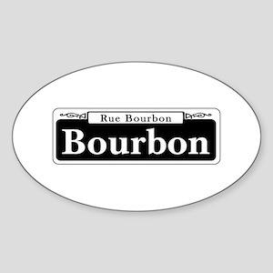 Bourbon St., New Orleans Sticker (Oval)