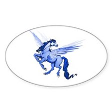 Horse Fantasy Oval Sticker