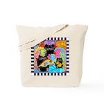 Colorful Cats & Fish Tote Bag