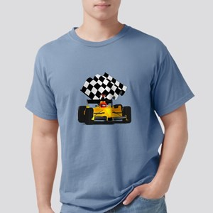 Yellow Race Car with Che Mens Comfort Colors Shirt