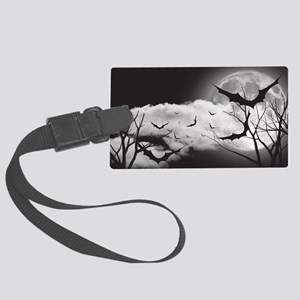 Bats in the Moonlight Large Luggage Tag