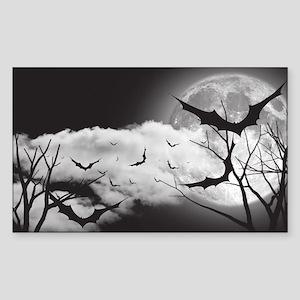 Bats in the Moonlight Sticker (Rectangle)