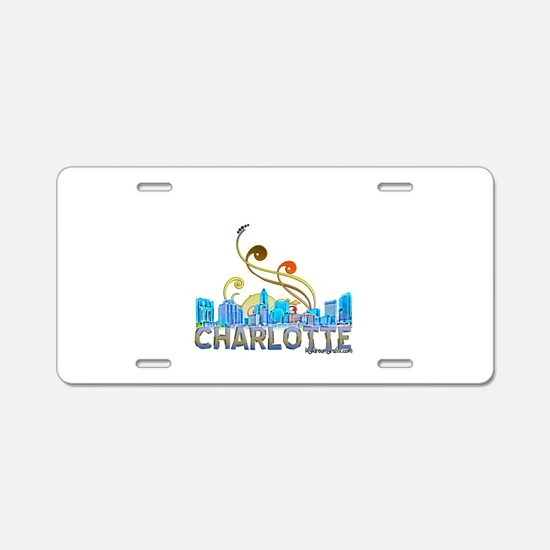 charlotte Aluminum License Plate