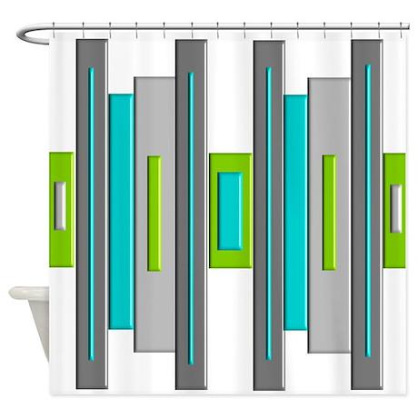 High Quality Mid Century Modern Shower Curtain