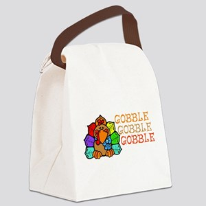 Gobble Gobble Gobble Colorful Turkey Canvas Lunch