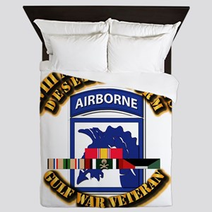 Army - DS - XVIII ABN CORPS - w DS Queen Duvet