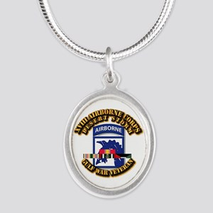 Army - DS - XVIII ABN CORPS - w DS Silver Oval Nec