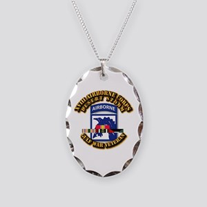 Army - DS - XVIII ABN CORPS - w DS Necklace Oval C