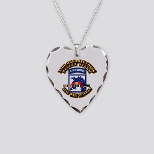 Army - DS - XVIII ABN CORPS - w DS Necklace Heart