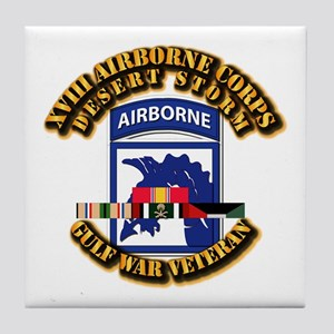 Army - DS - XVIII ABN CORPS - w DS Tile Coaster