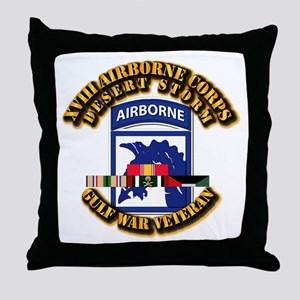 Army - DS - XVIII ABN CORPS - w DS Throw Pillow