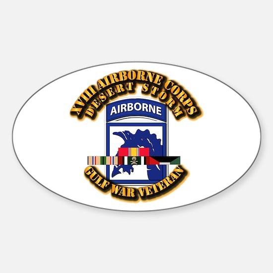 Army - DS - XVIII ABN CORPS - w DS Sticker (Oval)