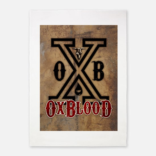 OxBlooD 5'x7'Area Rug