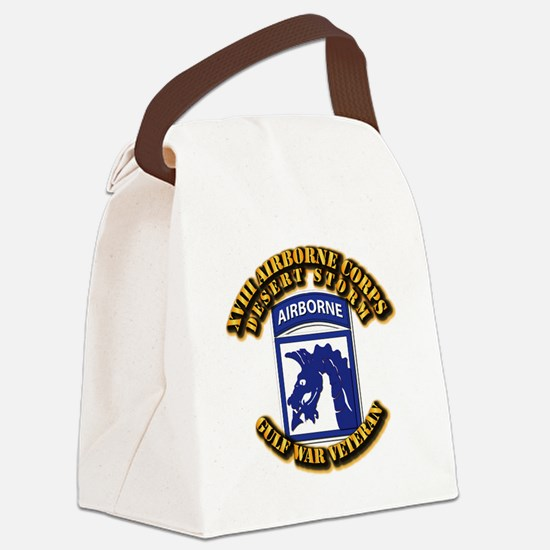 Army - DS - XVIII ABN CORPS Canvas Lunch Bag