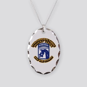 Army - DS - XVIII ABN CORPS Necklace Oval Charm