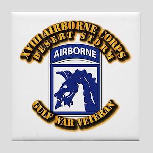 Army - DS - XVIII ABN CORPS Tile Coaster