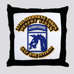 Army - DS - XVIII ABN CORPS Throw Pillow