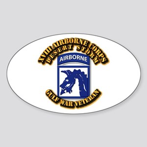Army - DS - XVIII ABN CORPS Sticker (Oval)