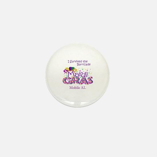 Mardi gras men Mini Button