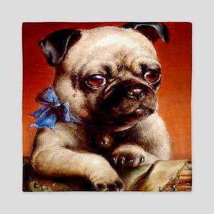 Bowtie Pug Puppy Queen Duvet