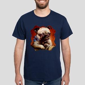 Bowtie Pug Puppy Dark T-Shirt