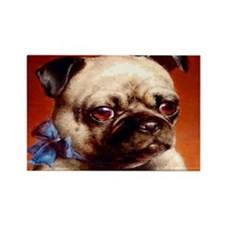 Bowtie Pug Puppy Rectangle Magnet