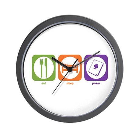 Eat Sleep Poker Wall Clock