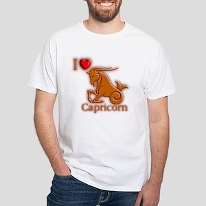 I Love Capricorn White T-Shirt