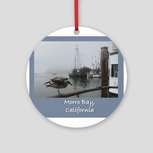 Morro Bay CA Ornament (Round)