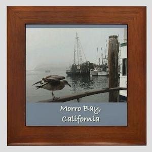 Morro Bay CA Framed Tile