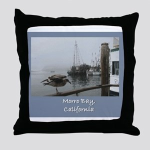 Morro Bay CA Throw Pillow