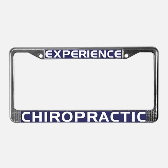 Experience Chiropractic License Plate Frame