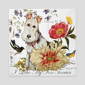 Fox Terrier Garden Queen Duvet