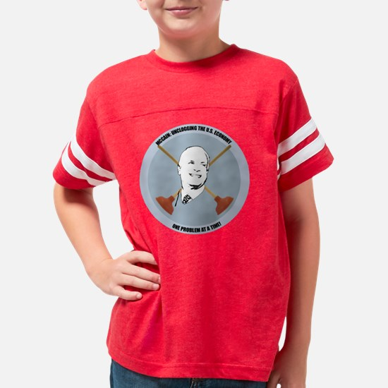 mccain unclogging the U.s. ec Youth Football Shirt
