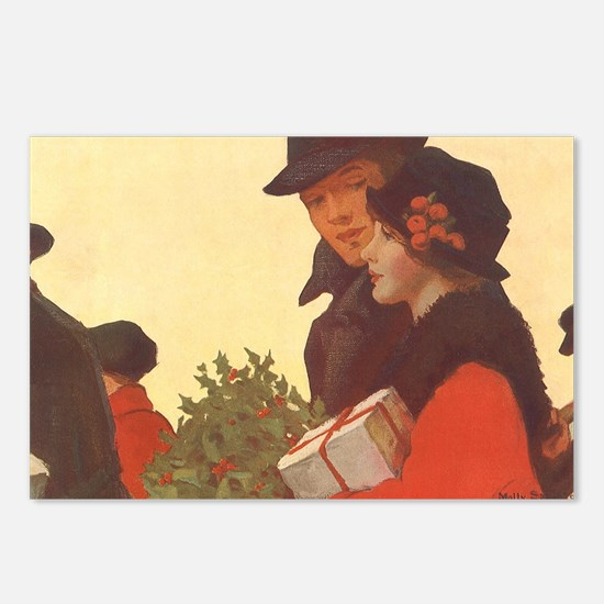 Vintage Christmas Shoppin Postcards (Package of 8)