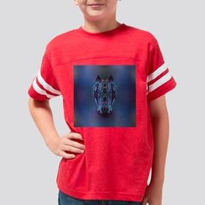 Horse tile Youth Football Shirt