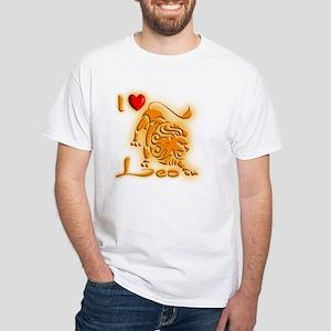 White I Love leo T-Shirt