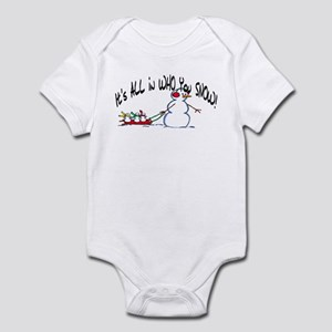 All in who you SNOW Infant Bodysuit