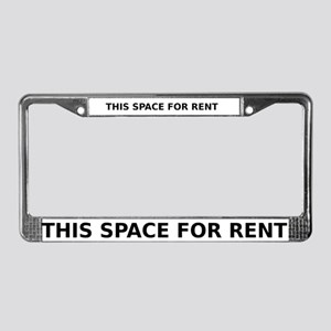THIS SPACE FOR RENT License Plate Frame