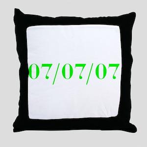 07/07/07 Throw Pillow
