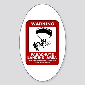 Parachute Landing Area Skydiving Oval Sticker