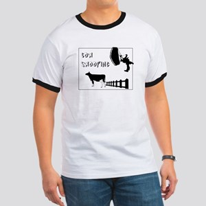 Cow Swooping Skydiving Ringer T