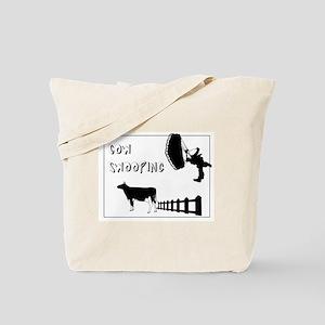 Cow Swooping Skydiving Tote Bag