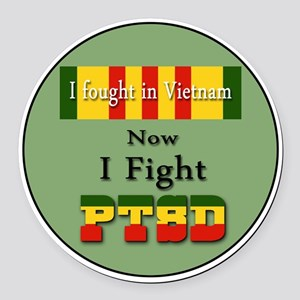 I Fought In Vietnam Now I Fight PTSD Round Car Mag