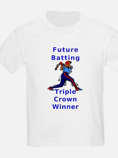 Future Batting Triple Crown W Kids T-Shirt