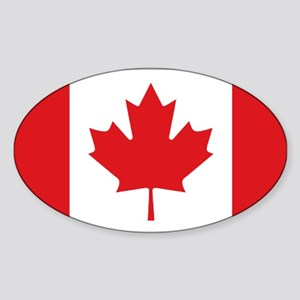 Canada National Flag Sticker (Oval)